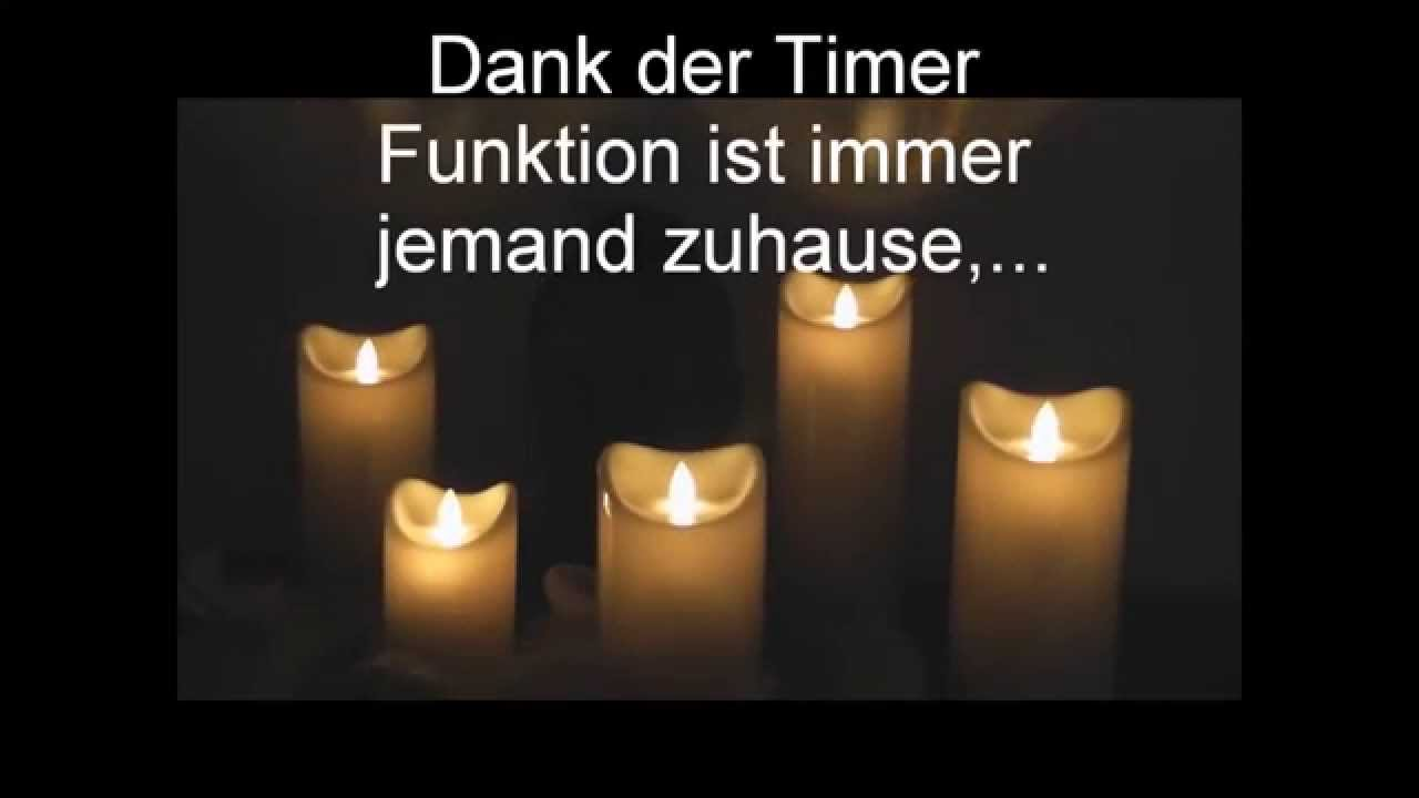 led kerze flackernd mit timer funktion zeitschaltuhr youtube. Black Bedroom Furniture Sets. Home Design Ideas