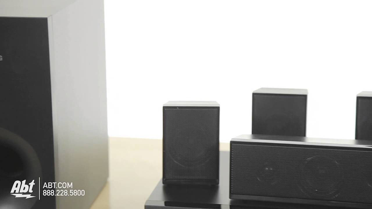 Samsung 5 1 Channel Dvd Home Theater System Ht E350 At Abt