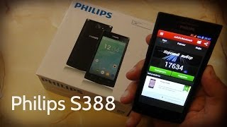 Philips S388. 2 SIM смартфон, 4,5' IPS экран / Арстайл /