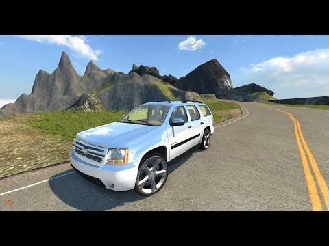 Beamng Drive Mod Chevrolet Tahoe Crash Test Youtube