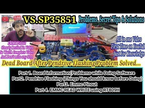 VS.SP35851 Pendrive Flashing #EMMC #Jtag In Hindi