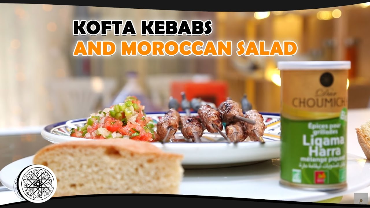 choumicha : kofta kebabs and moroccan salad - youtube