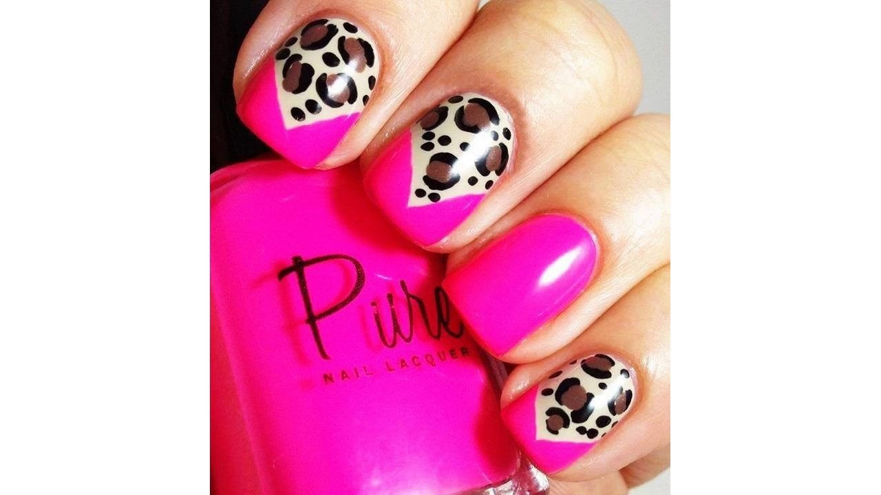 Uñas Decoradas Con Gelish Rosa Youtube