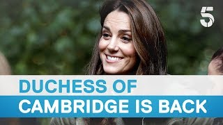 Duchess Kate Middleton returns to work after maternity leave for the birth of Prince Louis   5 News