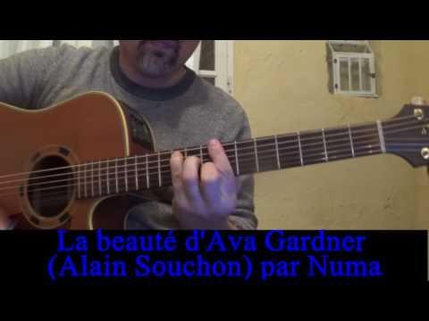 La beauté d'Ava Gardner (Alain Souchon) reprise guitare voix