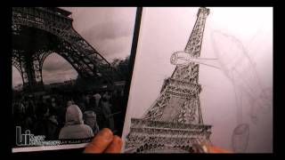 Drawing the Eiffel Tower...and Dreaming about Paris