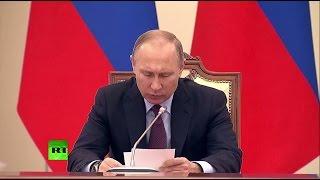 Путин проводит заседание по вопросам культурной политики
