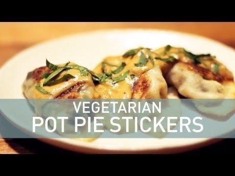 Deconstructed Pot Pie: Vegetarian Pot Pie Stickers