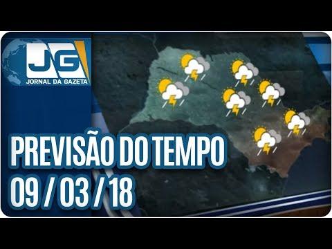 Previsão do Tempo - 09/03/2018