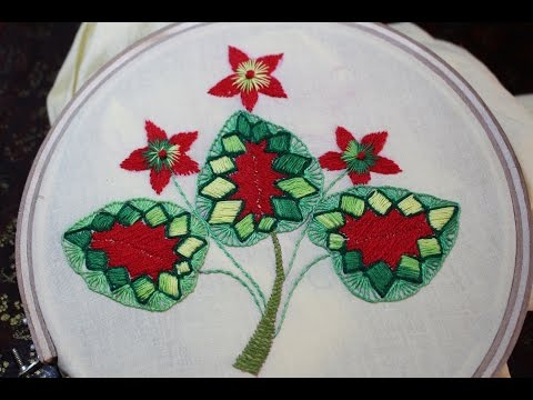 Hand Embroidery Designs Leaf Tutorial Beginners Stitch And