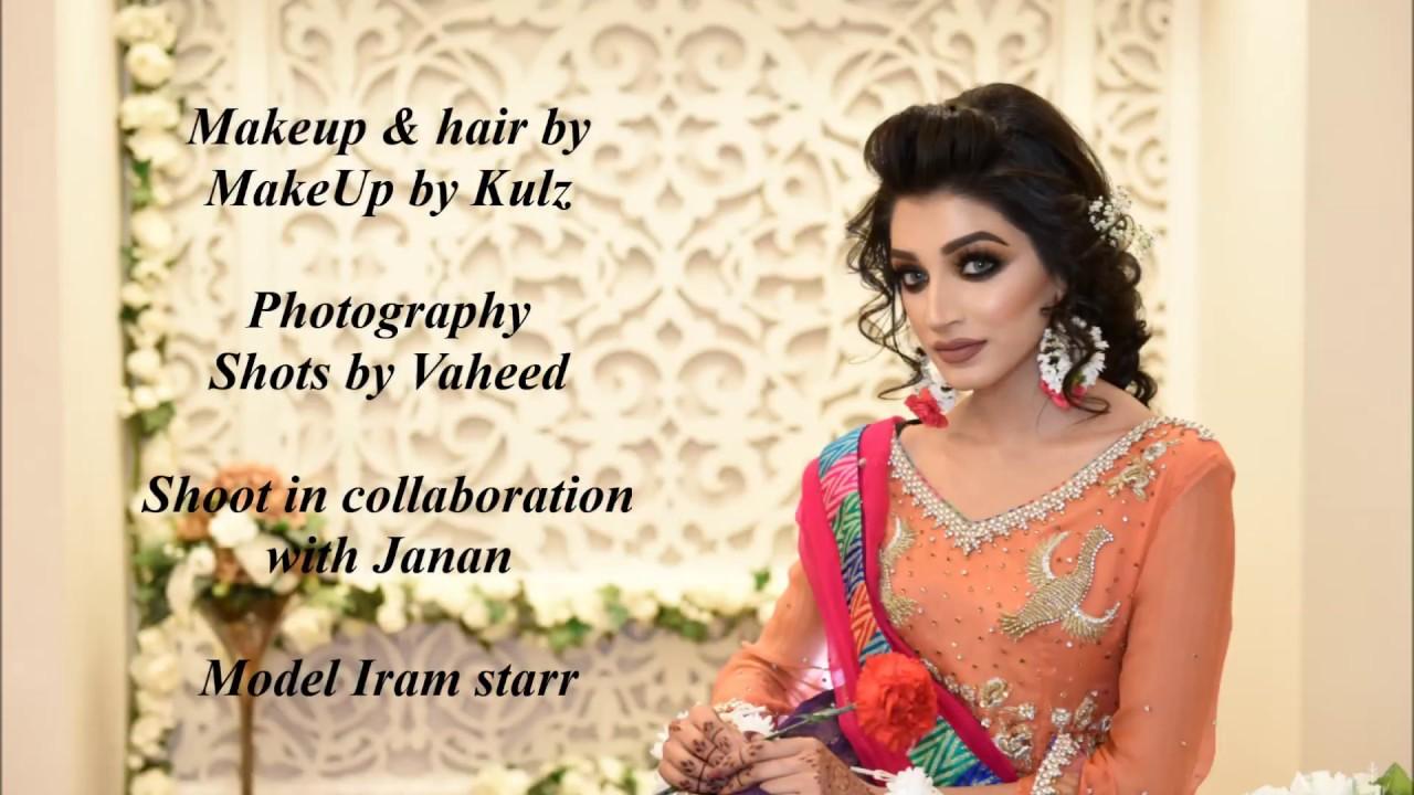Colourful Mehndi bridal Makeup look | Pakistani Indian | Brown Smoky ...