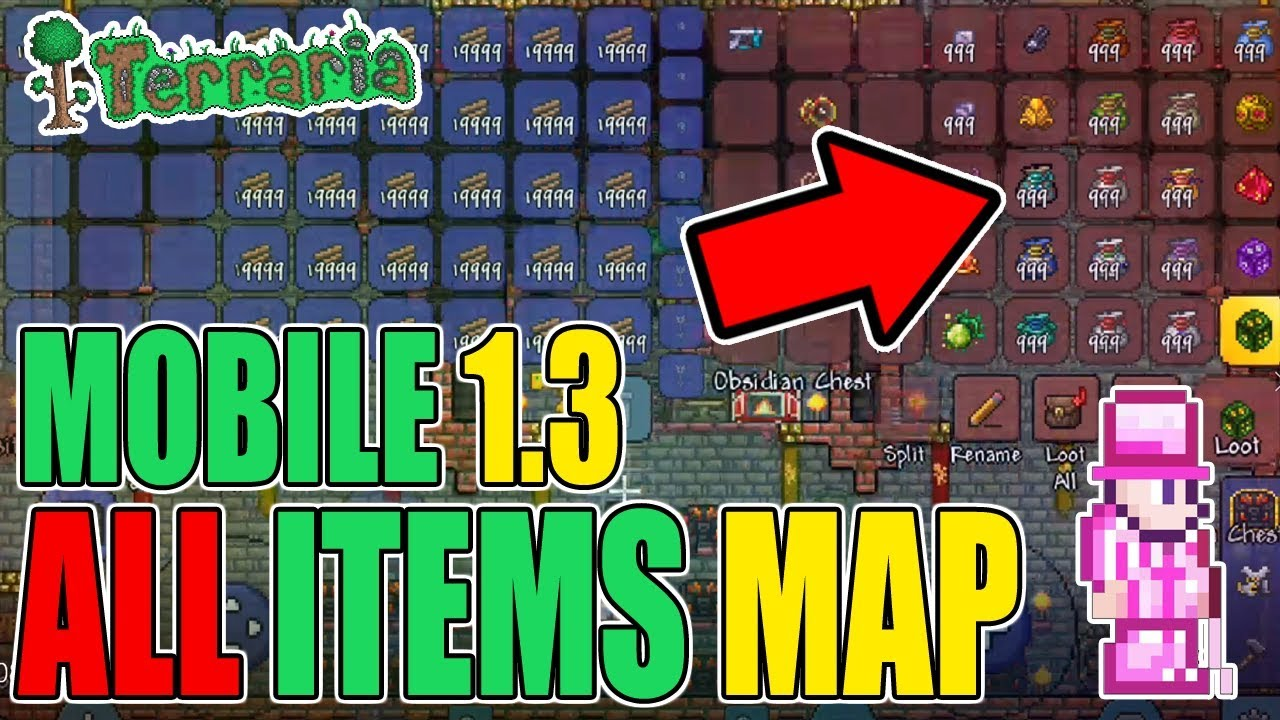 Terraria 1.3 Mobile ALL ITEMS MAP!! (DOWNLOAD LINK) on map for los angeles, map for windows, map for oklahoma city, map for help, map for honolulu, map for memphis, map for print,