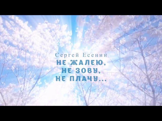 Изображение предпросмотра прочтения – МаринаЕрёмич читает произведение «Не жалею, не зову, не плачу...» С.А.Есенина