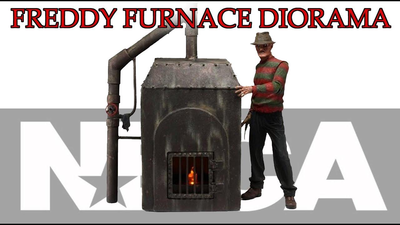 Freddy Krueger 7 Figure  Boiler RoomFurnace Diorama