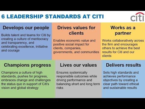 6 LEADERSHIP STANDARDS AT CITI via Michael Corbat
