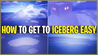 *NEW* HOW TO GET TO THE ICEBERG/CASTLE OUTSIDE MAP! *Super Easy* (Fortnite)