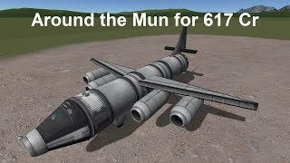 KSP - Around the Mun and back for 617 credits in career mode