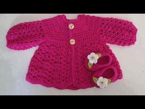 Hướng Dẫn Móc áo Khoác Cho Bé Gái 3- 6 Tháng Tuổi Phần 1( Crochet Sweater For Baby)