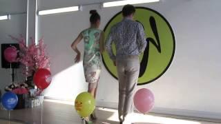 Ча-ча-ча сольные шаги Видео 1. Сергей Стрелков и Аполлинария Ременюк
