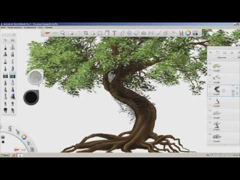 Digital Art Tree Youtube