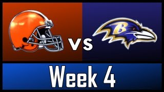 NFL - Week 4: Cleveland Browns vs Baltimore Ravens - Preview & Predictions