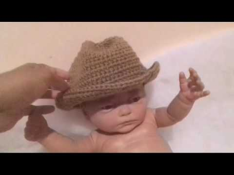 75225f705a56a Gorro vaquero a crochet - YouTube