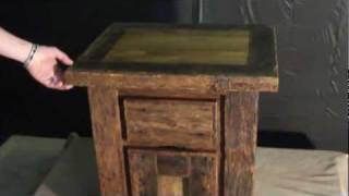 Rustic Night Stand Or End Table