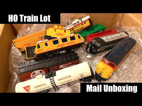 HO Train & Locomotive Lot – Mail Unboxing
