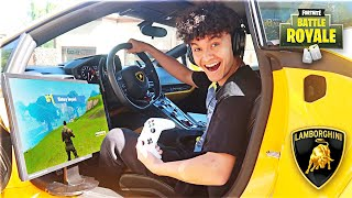 This 15 Year Old Kid Won Fortnite in a Lamborghini