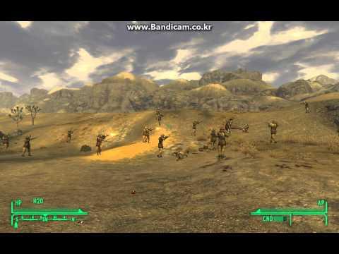 FalloutNV - 20 NCR trooper vs Legate Lanius