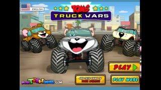 CARTOON CARS RACE TOM AND JERRY JEEP WITH BIG WHEELS
