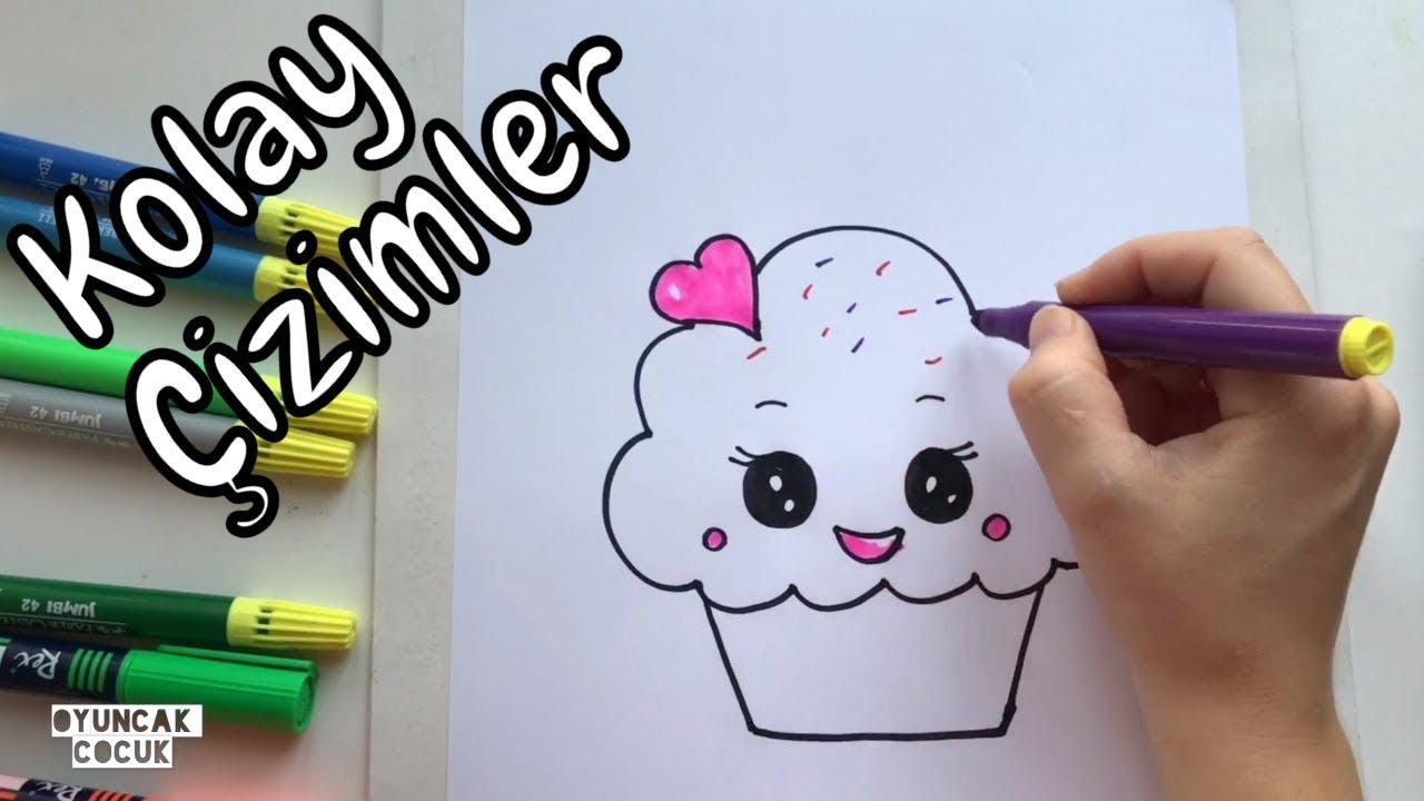 Kolay Cizimler Sevimli Muffin Kek Nasil Cizilir Resim