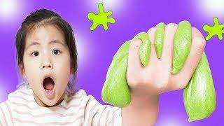 슬라임을 직접 만들어봤어요!! 서은이의 플레이즈 슬라임 키즈카페 체험 보석 토핑 감각놀이 Slime Indoor Playground