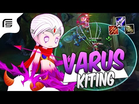 O KITING MECHANICS DE LEVE - VARUS ADC GAMEPLAY - League of Legends - Fiv5 gameplay - [ PT-BR ]
