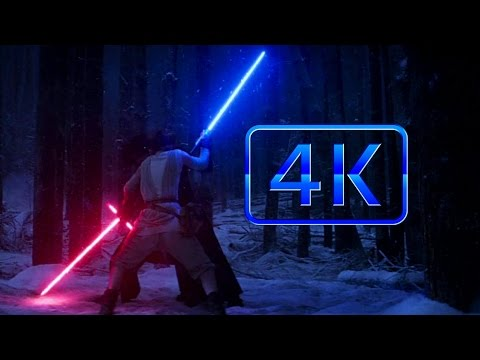 Star Wars: Episode VII The Force Awakens - Finn & Rey Vs. Kylo Ren [4K 60fps]