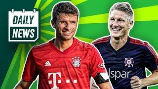 Verlässt Thomas Müller den FCB? Schweinsteiger tritt ab! Barca hat Schulden beim FC Liverpool!