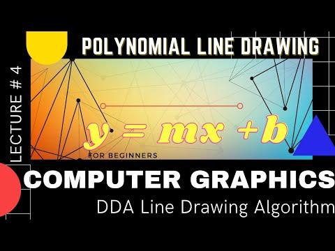 Simple dda line drawing algorithm in computer graphics