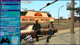 GTA San Andreas One HP Speedrun - LS & Badlands - Hugo_One Twitch Stream - 11/12/2018