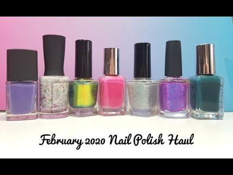 february 2020 nail polish haul  youtube