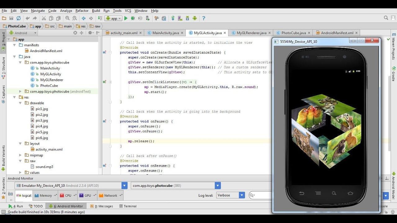Tutorial how to draw 3D photo cube in Android Studio 1 4