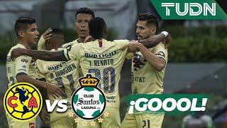 ¡Gool del América! ya lo ganan las águilas  | América 1 - 0 Santos | Liga MX - Ap19  - J17 | TUDN