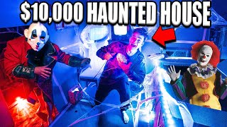 $10,000 Box Fort Haunted House! Scary Halloween Challenge