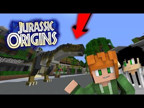 FIGHTING T-REX!!!   Jurassic World Orgins   EP2 (Jurassic World Minecraft Roleplay RPG)