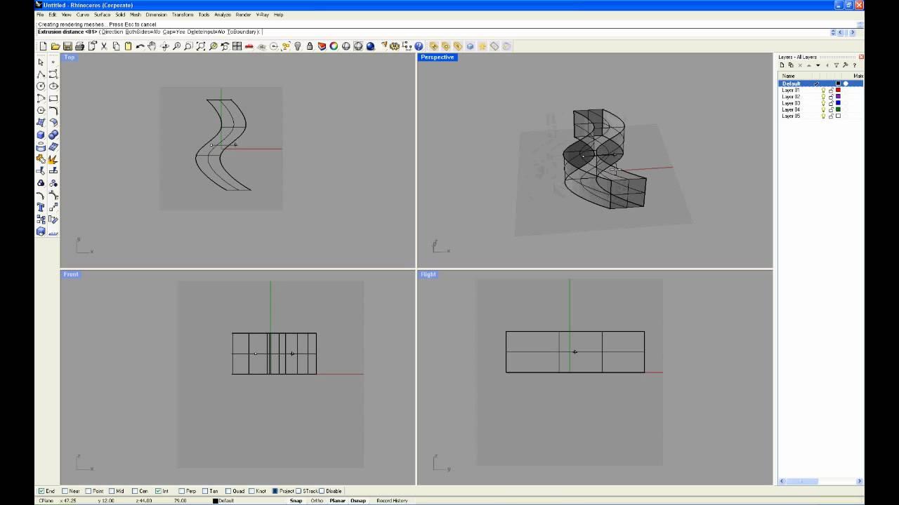Rhino Tutorial 5 Editing Poly Surfaces