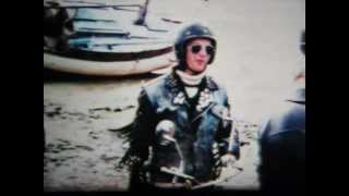 1970s British Rockers Biker Gang Greasers Leather & Denim Jackets,two Strokes Cafe Racer Motorcycles