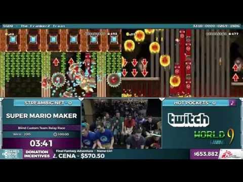 Super Mario Maker, Team Streambig.net vs. Team Hot Pockets in 1:20:00 - SGDQ 2016 - Part 157