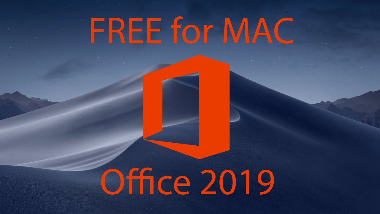 FREE Microsoft Office 2019 for MAC MacOS Mojave (Word, Excel