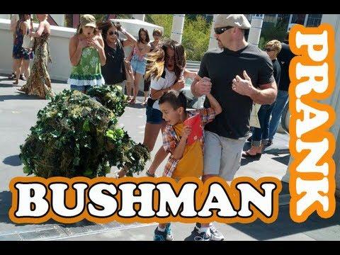 LAS VEGAS BUSHMAN SCARE PRANK #238 Feat. @BikerAtlas | Ryan Lewis Pranks