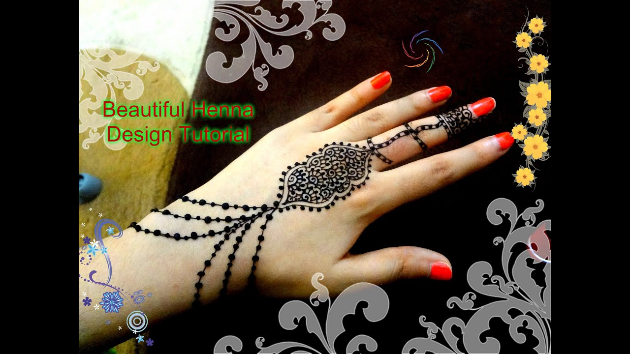 DIY: Beautiful henna mehndi jewelry design Tutorial for Eid for ...