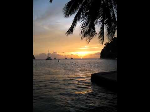 Saying goodbye to the sun at Marigot Bay, St Lucia